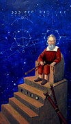 Galaxies Painting Metal Prints - Visionary of Stars Galileo Galilei  Metal Print by Janelle Schneider