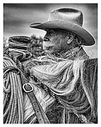 Cowboy Photos Prints - Visions of the Past Print by Dawn Young