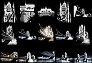 Photo Collage Prints - Visions of Tower Bridge Print by John Rizzuto