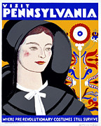 Pennsylvania Framed Prints - Visit Pennsylvania Framed Print by Nomad Art And  Design