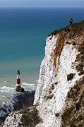 Visiting Beachy Head Print by James Brunker