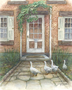 Geese Paintings - Visitors by Jeanne Beutler