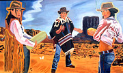 Cowgirls Paintings - Visitors of Monument Valley-The Revenge by John Paul Blanchette