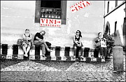 Vino Prints - Visitors Print by Valentino Visentini