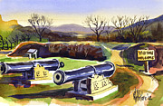 Park Scene Mixed Media Metal Prints - Visitors Welcome at Fort Davidson Metal Print by Kip DeVore