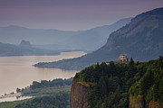 River View Prints - Vista House and the Gorge Print by Andrew Soundarajan