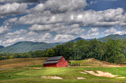 Playing Golf Prints - Vista Links Barn Print by Todd Hostetter