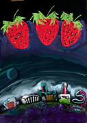 Slide Pastels Posters - Vista Strawberry Festival Poster by AJ Williamson