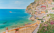 Port Edge Posters - Vista su Positano Poster by Loredana Messina