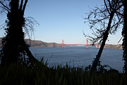 Vista To The San Francisco Golden Gate Bridge - 5d20983 Print by Wingsdomain Art and Photography