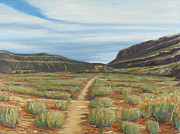 Grande Paintings - Vista Verde Trail I Rio Grande Gorge NM by David  Llanos