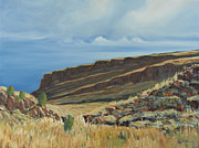Grande Paintings - Vista Verde Trail II Rio Grande Gorge NM by David  Llanos