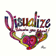 Visualize Framed Prints - Visualize - 2013  Framed Print by Suzanne Allen de Sanchez