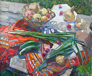 Drapery Originals - Vitamin Still Life by Juliya Zhukova