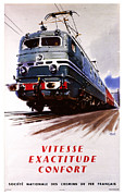 Vintage Posters Art - Vitesse Exactitude Confort by Nomad Art And  Design