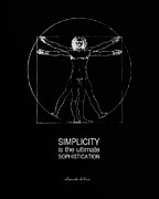 Leonardo Sketch Prints - Vitruvian Man Print by Philip Sweeck