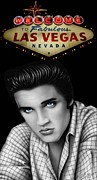 Graphite Drawings Prints - Viva Las Vegas Print by Charles Champin