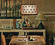Historic Home Mixed Media Prints - Vivacious Dining Room Print by Nenad  Cerovic