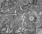 Featured Drawings Originals - Vivant Garde by Christie Mamanna