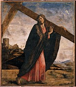 Christ On Cross Photos - Vivarini Alvise, Christ Carrying by Everett