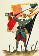 Color Lithographs Photo Acrylic Prints - Vive la France 1918 Acrylic Print by Padre Art