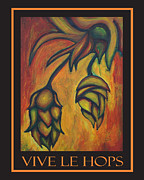 Shades Of Red Framed Prints - Vive Le Hops in Black Framed Print by Alexandra Ortiz de Fargher
