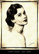 Award Drawings Prints - Vivien Leigh Print by George Rossidis