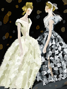 Fashion Art Prints Paintings - Vivienne Westwood Fashion Illustration Art Print by Beverly Brown Prints