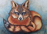 Vixen Paintings - Vixen by Janine Riley