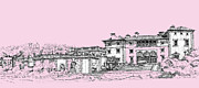 Photo Images Drawings - Vizcaya Museum and Gardens baby pink by Building  Art