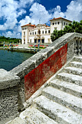 Villa Prints - Vizcaya Museum and Gardens Biscayne Bay Miami FL Print by Amy Cicconi