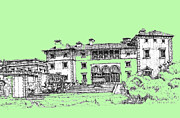 Photo Images Drawings - Vizcaya Museum in pistachio by Building  Art