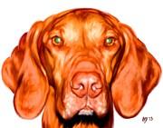 Vizsla Dog Art Portrait Print by Iain McDonald