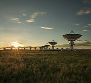 Communications Technology Posters - VLA at Sunset Poster by Matt Tilghman