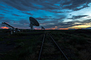 Machinery Photo Posters - VLA Train Track Sunset Poster by John Daly