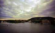 Vltava River Prints - Vltava View Revisited - Prague Print by Madeline Ellis
