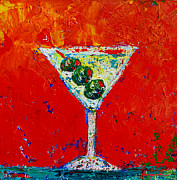 Textured Painting Originals - Vodka Martini Shaken not stirred by Patricia Awapara