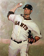San Francisco Giants Painting Framed Prints - Voge Framed Print by Darren Kerr