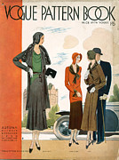 Clothes Clothing Drawings - Vogue Pattern Book Cover 1930 1930s Uk by The Advertising Archives