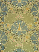 Wallpaper Tapestries Textiles Prints - Voisey the Saladin Print by William Morris