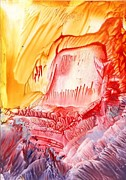Fantasy Landscape Mixed Media - Volcanic Cave by Natasha Lovell