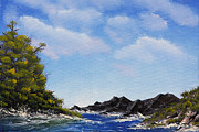 Salt Air Paintings - Volcanic Rock Lagoon by Jennifer Muller