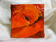 Orange Jewelry Originals - Volcanica by Nancy Garbarini