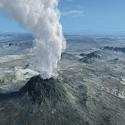 Render Originals - Volcano eruption with ashes by Bijan Habashi