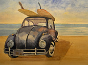Longboard Originals - Volkswagen beetle by Juan  Bosco