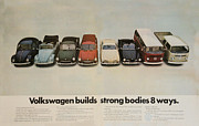 Vintage Car Advert Digital Art - Volkswagen Body Facts by Nomad Art And  Design