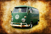 Vw Squareback Framed Prints - Volkswagen Bus Framed Print by Steve McKinzie