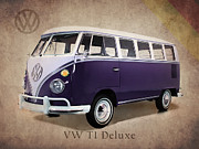 Volkswagen Beetle Prints - Volkswagen T1 Bus Print by Mark Rogan