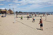Volley Prints - Volleyball At The Santa Cruz Beach Boardwalk California 5D23837 Print by Wingsdomain Art and Photography