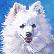 Dog Art Paintings - Volpino Italiano by Lee Ann Shepard